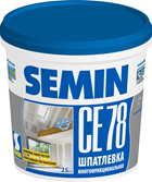 Шпатлевка Semin CE78(синяя крышка), 25кг